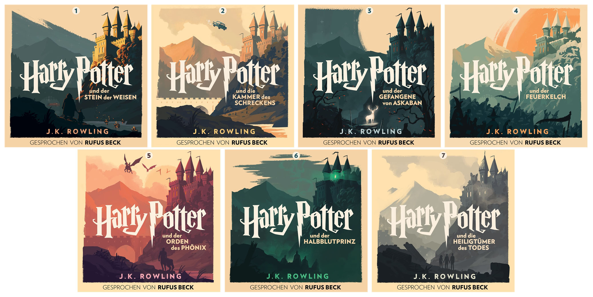 Olly Moss Artwork Revealed For The German Harry Potter Audiobook Series Pottermore Publishing