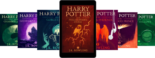 A sample of Pottermore Publishing ebooks and audiobooks